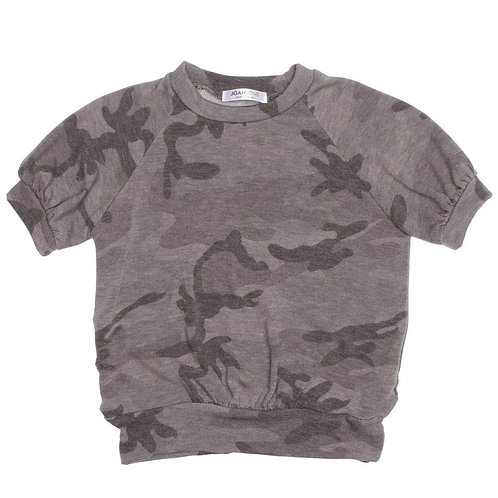 Joah Love Women's Grey Camo Top