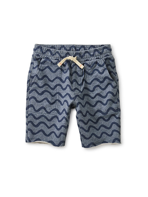 Tea Printed Knit Gym Short