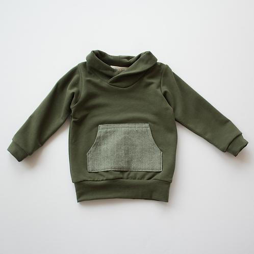 Thimble Green Shawl Collar Sweatshirt