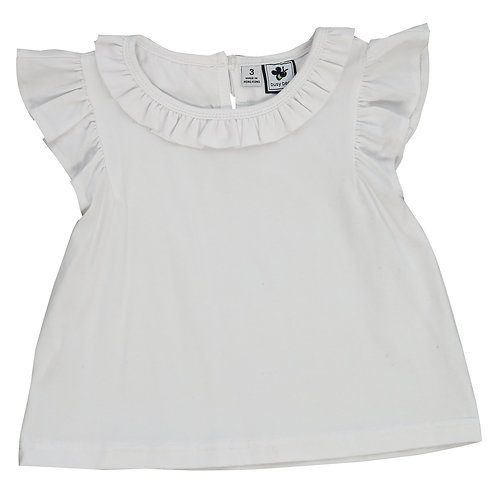 Busy Bees Colette White Knit Top