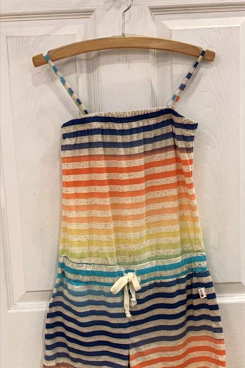 T 2 Love Rainbow Stripe Romper