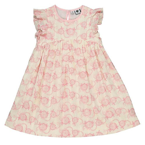 Busy Bees Pink Eyelet Dress
