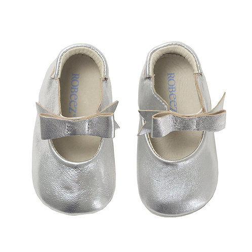 Robeez Silver Bow First Kicks Shoe