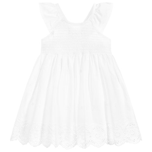 Mayoral White Cotton Dress