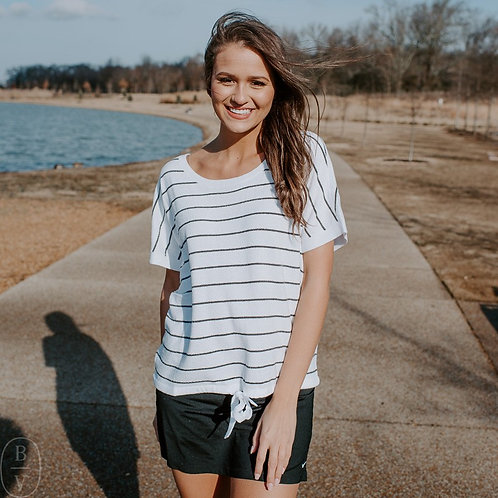 Barefoot Dreams Striped Pullover Tee