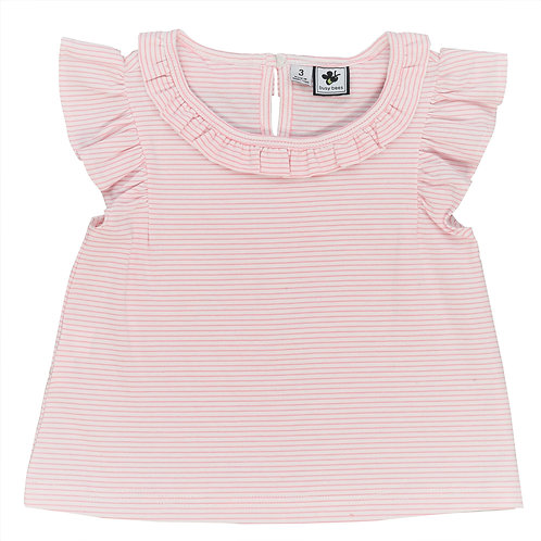 Busy Bees Colette Pink Stripe Knit Top