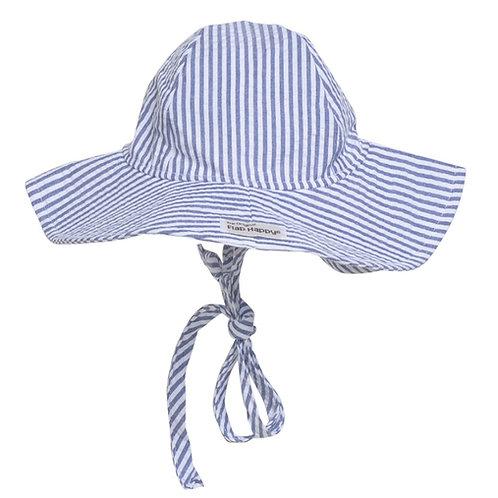 Flap Happy Navy Stripe Sun Hat