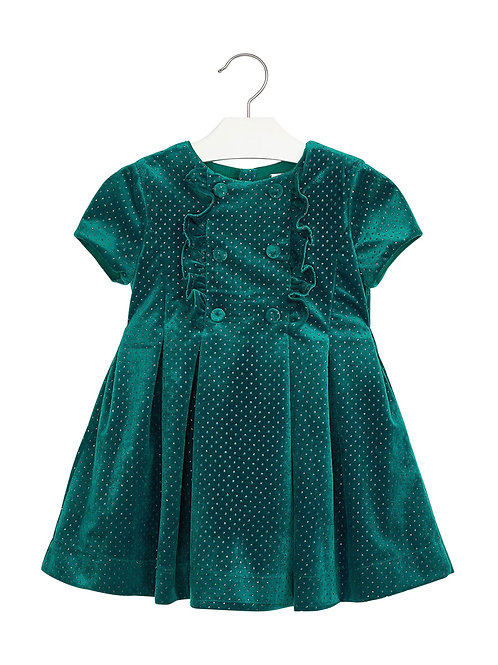 Mayoral Velour Ruffle Glitter Dress