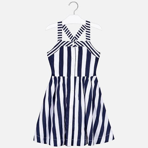 mayoral stripe navy dress