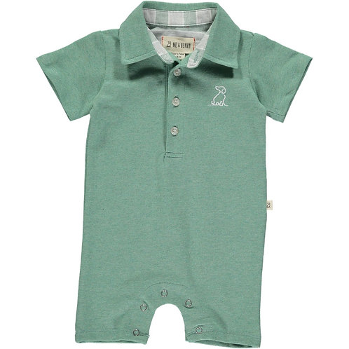 Me & Henry Green Cotton Polo Playsuit