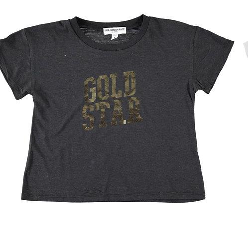 Sub Riot crop Gold Star t
