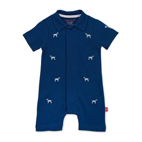 Magnetic Me Best in Show Organic Magnetic Polo Romper