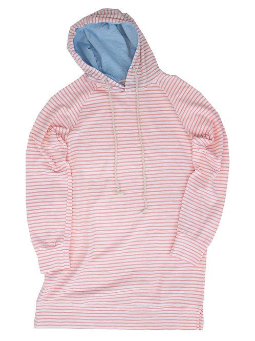 Properly Tied Montauk Coral Stripe Dress