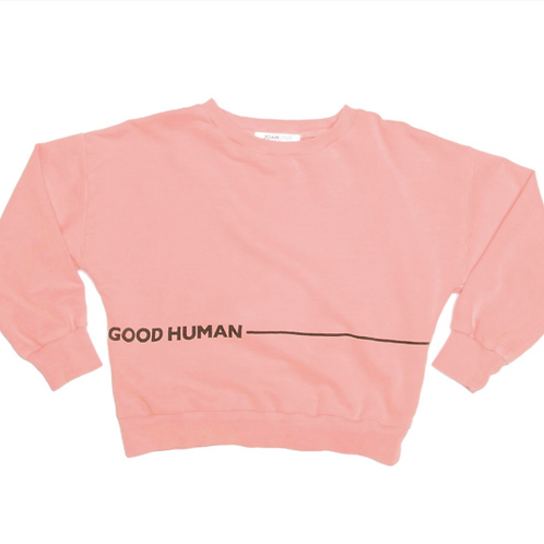 Joah Love Good Human Neon Coral Top