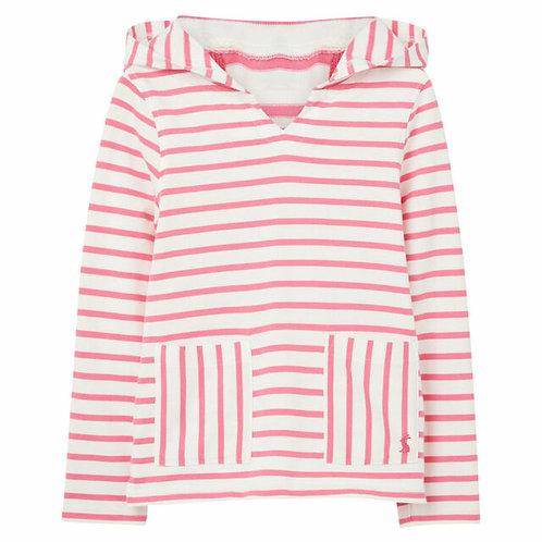 Joules Astbury Pink Stripe Hoodie