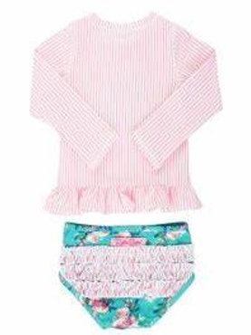 Ruffle Butts Seersucker Top Two Piece Swimsuit