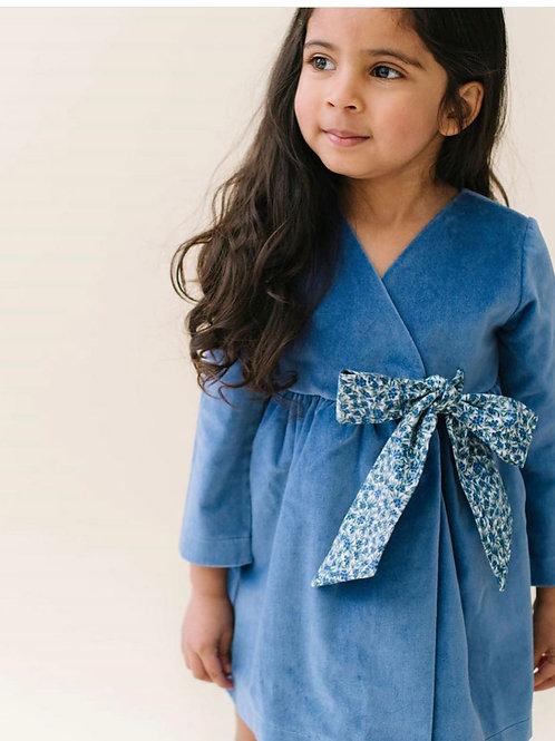 Thimble Blue velvet dress