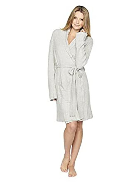 Barefoot Dreams Cozy Chic Lite Heathered Ribbed Short Robe