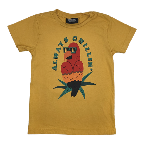Tiny Whales Always Chillin' Parrot Tee