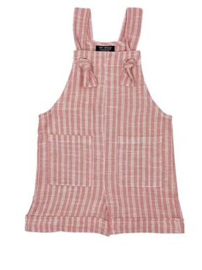Tiny Whales High Tide Coral Shortall