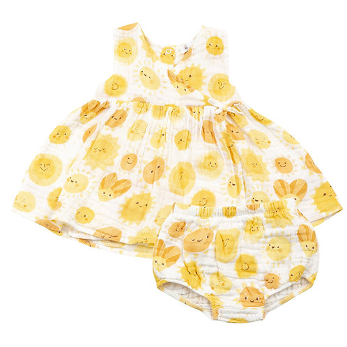 Angel Dear Sunshine Dress and Diaper Cover Set