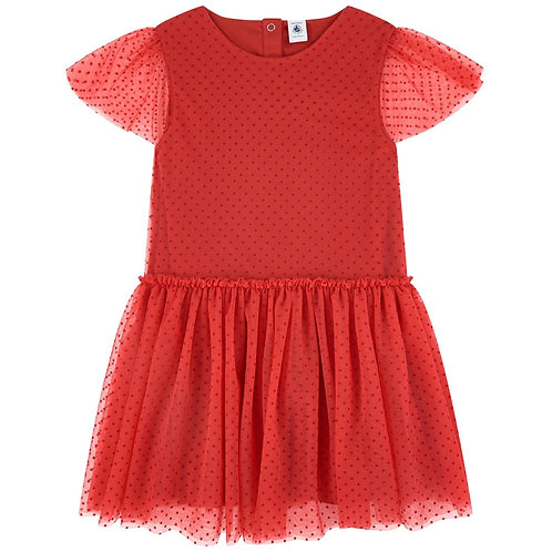 Petit Bateau Dotted Tulle Dress