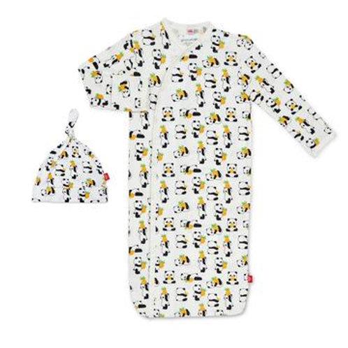 Magentic Me Panda Gown & Hat Set