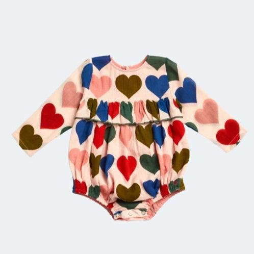 Pink Chicken Heart Frances Bubble