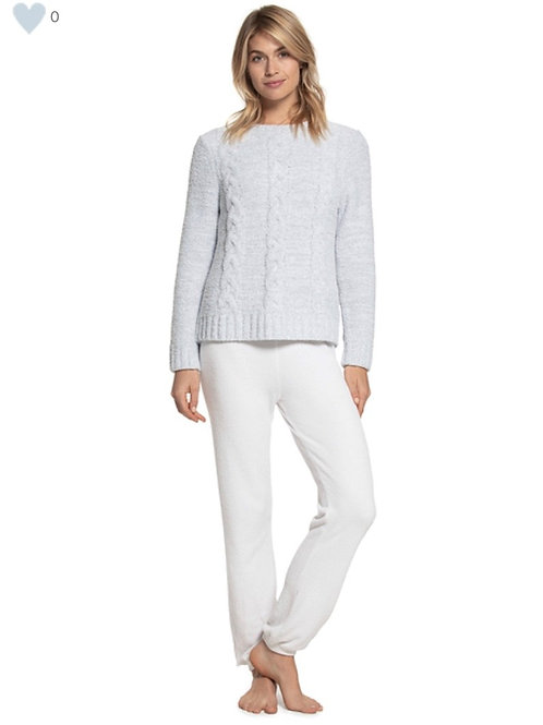 Barefoot Dreams Heathered Cable Pullover