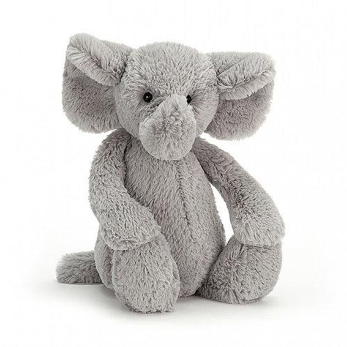 Jellycat Medium Bashful Silver Elephant