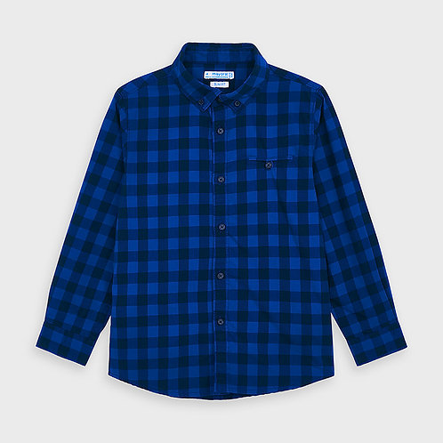 Mayoral Blue and Black Button Up