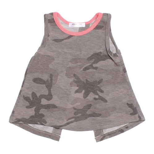 Joah Love Grey Camo Tank