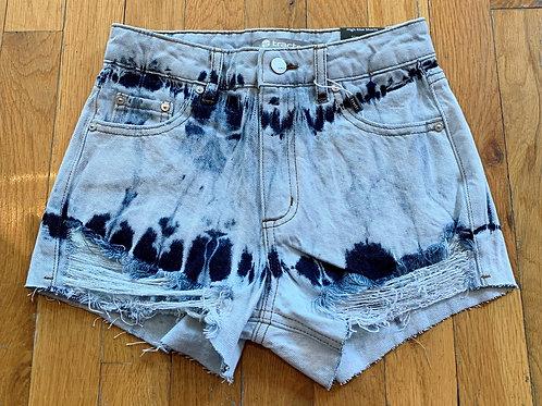 Tractr High Rise Indigo Dyed Short