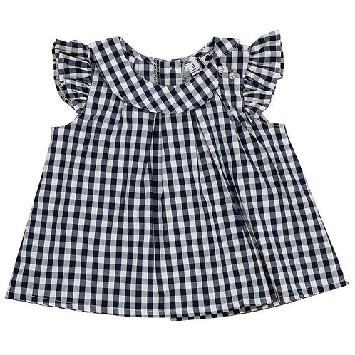 Busy bee gingham top