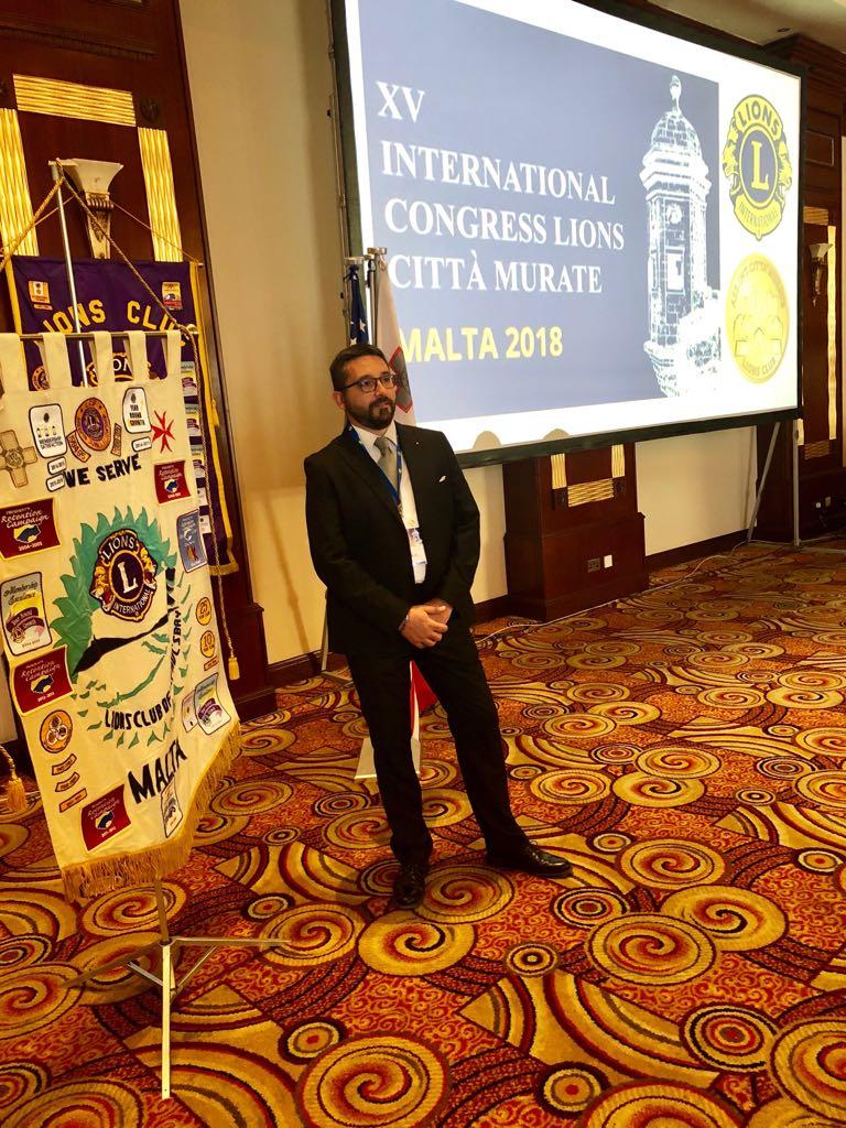 Lions  Enrico Formichetti Relazional al XV Congress Citta  Murate