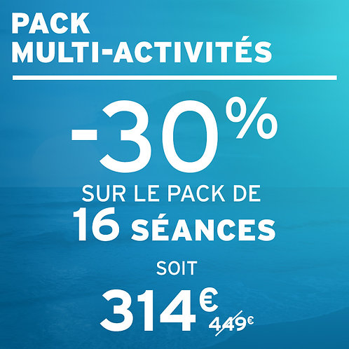 -30% sur votre pack de 16 séances bien-être, soit 314€ au lieu de 449€