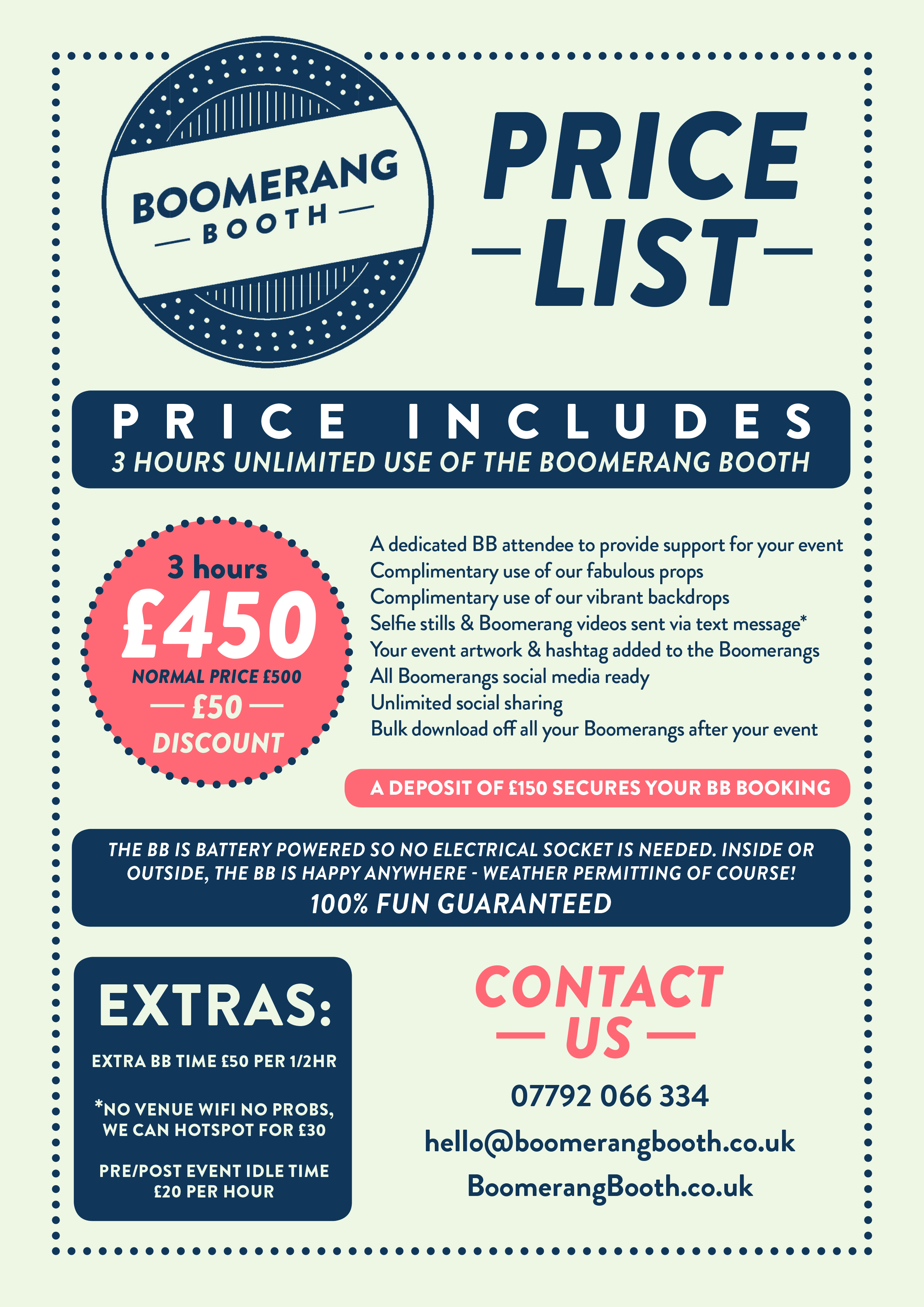 BB Price List