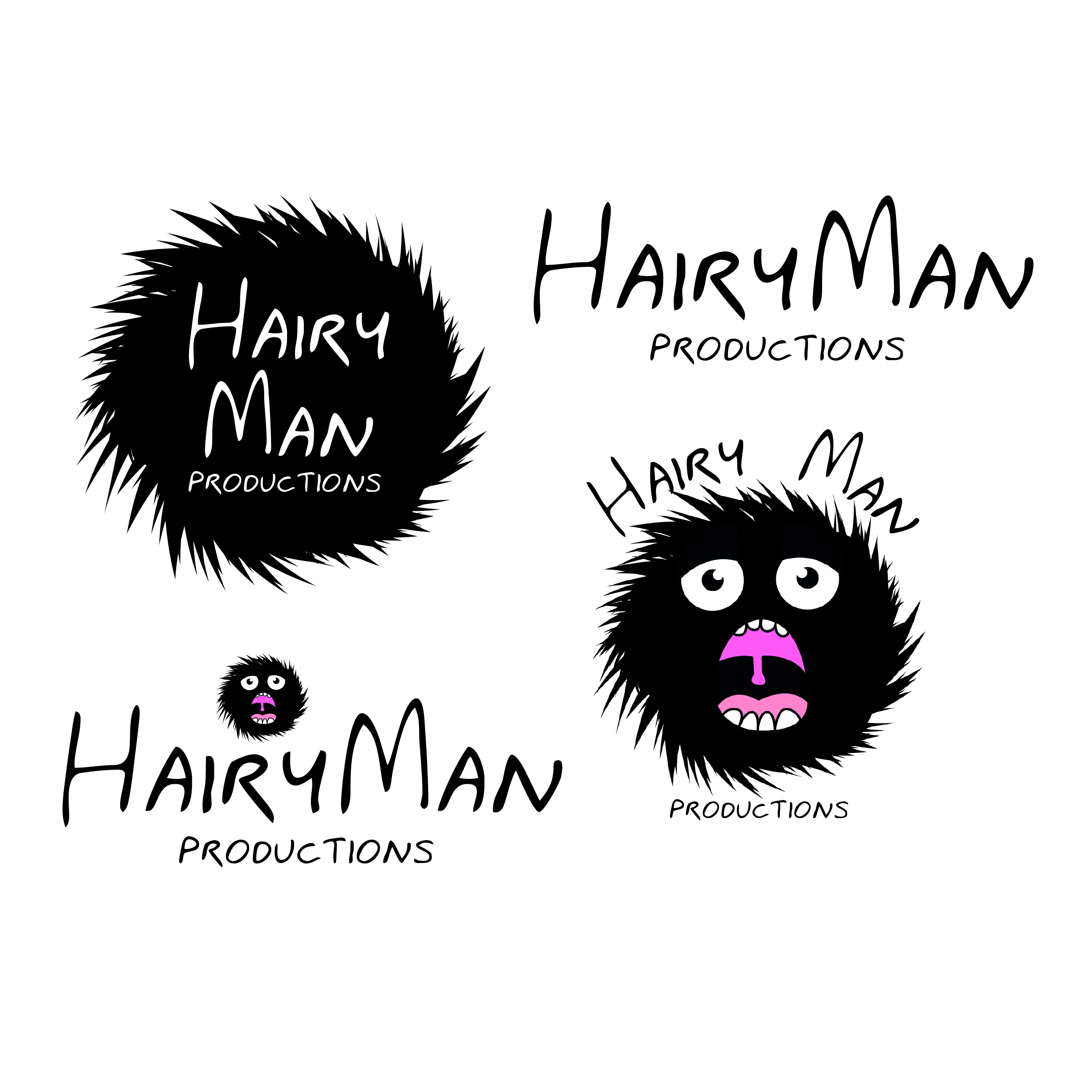 Hairy man Logo Design