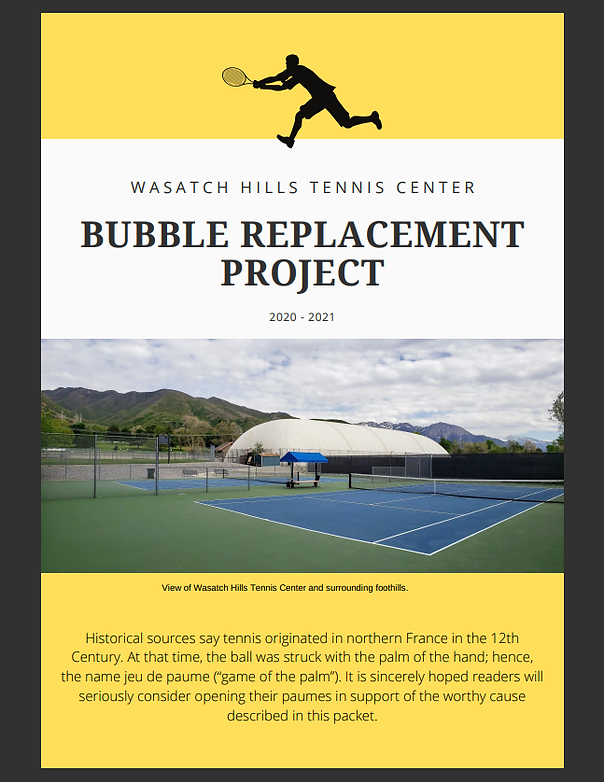 Cover Page, WH Bubble Replacement Projec