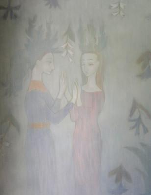 Sweedish Folk 1 Hand Painted Mural by CEH