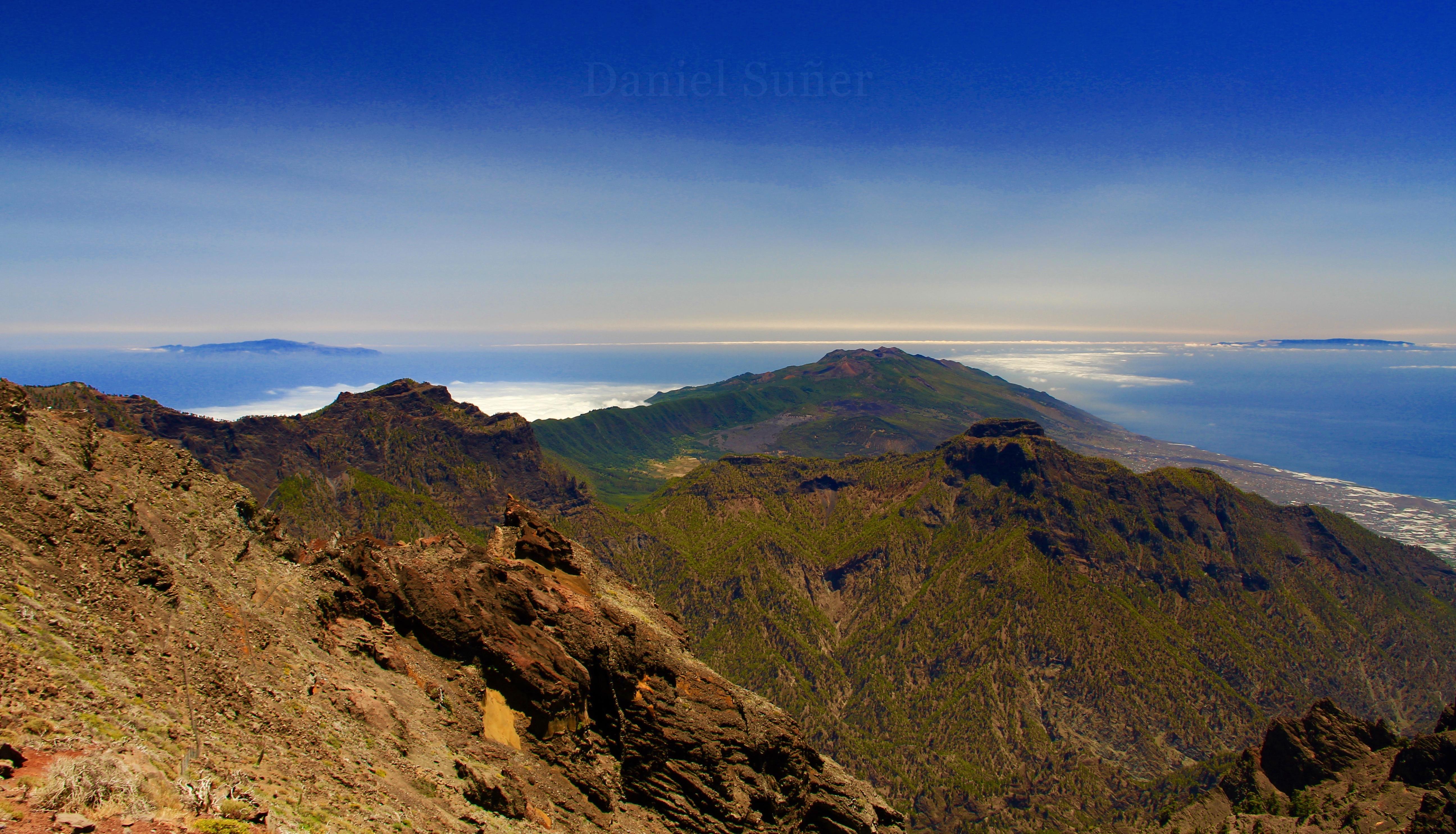 Vista sur desde el Roque de los Muchachos. La Palma