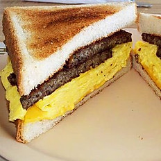 Scrapple, Egg & Cheese Sandwich
