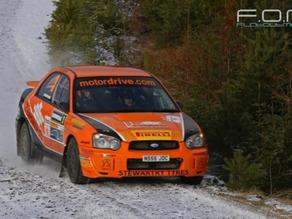 Victory!! Jock Armstrong wins Snowman Rally 2015