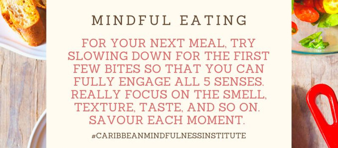 Mindfulness Tip:  Try Mindful Eating