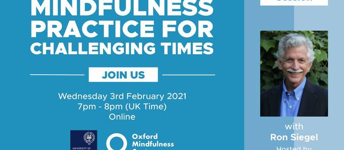 We're Hosting the next University of Oxford Mindfulness Centre Keynote Presentation!