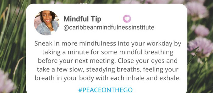 Mindfulness Tip:  Take A Breather