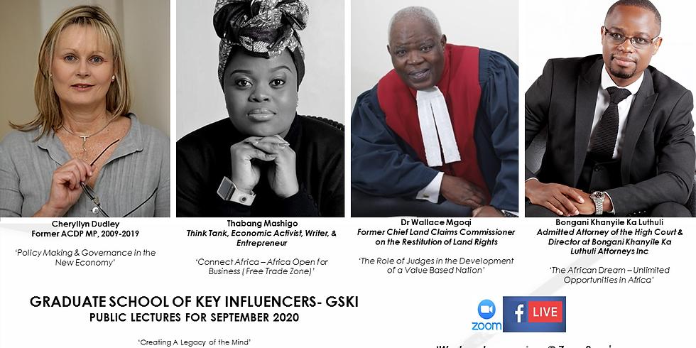 Graduate School of Key Influencers - Public Lectures