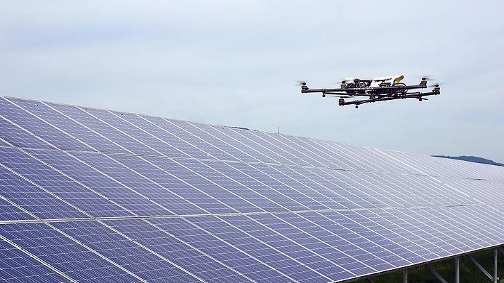 Drónos napelempark vizsgálat