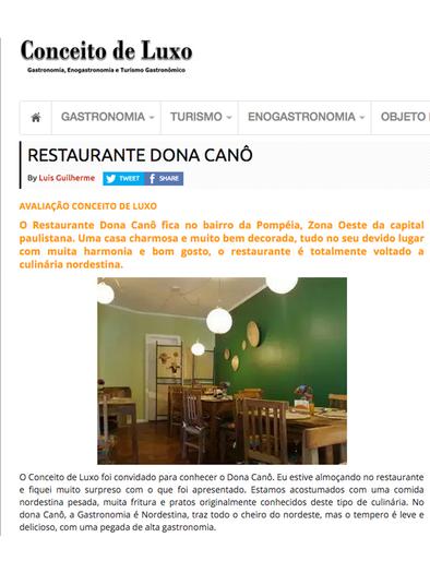 Restaurante Dona Canô Avaliação