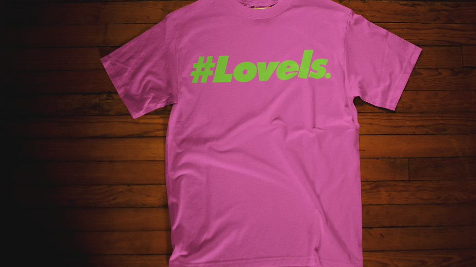Love Is T-Shirt (Pink/Green)